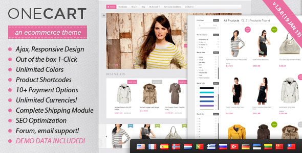 OneCart – Ajax Responsive E-Commerce WordPress Theme