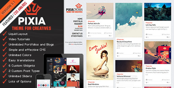 Pixia WordPress Theme