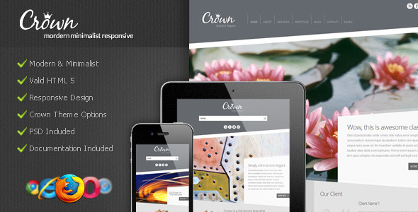 Crown – Modern Minimalist WordPress Theme