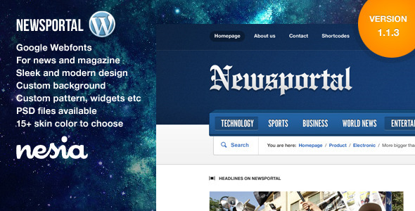 Newsportal – Responsive News and Magazine Theme
