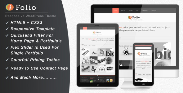 iFolio – Clean WordPress CMS Portfolio Theme
