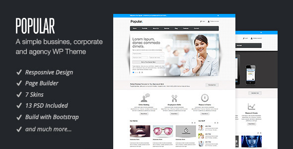 Popular – Responsive WordPress Theme