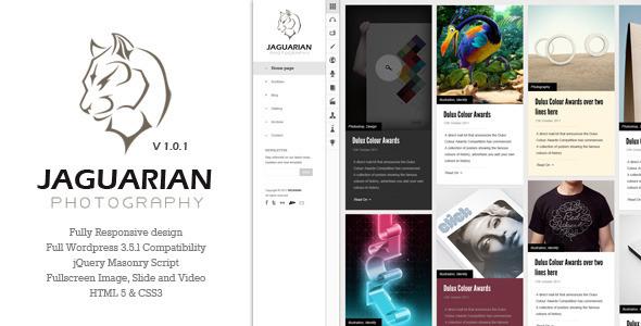 Jaguarian – Responsive Portfolio WordPress Theme