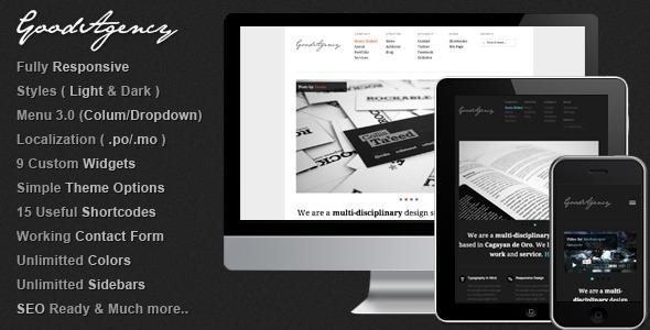 GoodAgency: Minimal & Responsive WordPress Theme