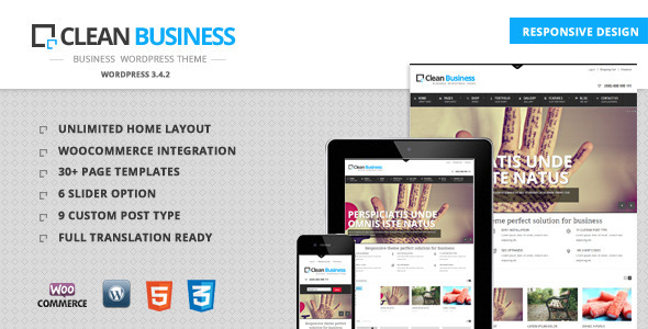 Clean Business – Business WordPress theme