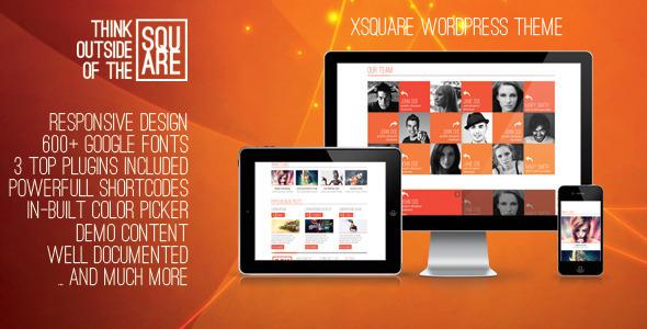 xSquare – Responsive & Clean WordPress Template