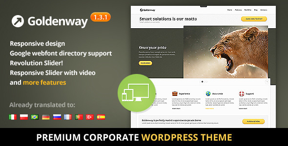 Goldenway – Premium WordPress Theme