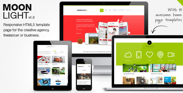 MoonLight – Responsive WordPress Theme