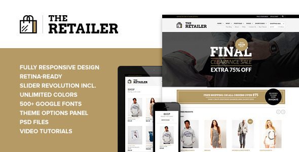 The Retailer – Retina Responsive WooCommerce Theme