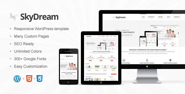SkyDream Responsive Multi-Purpose WordPress Theme