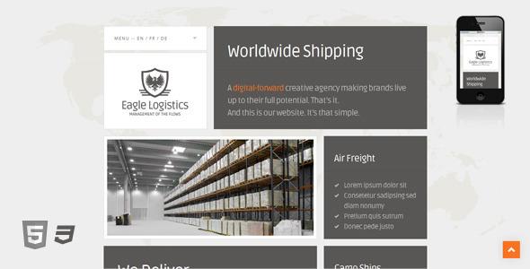 Eagle Logistics – Retina-Ready WordPress Theme