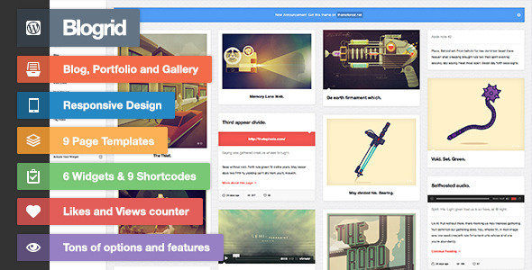 Blogrid – Grid-Based WordPress theme