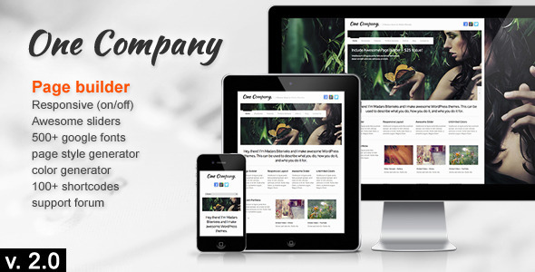 One Company – Responsive Business WordPress Theme
