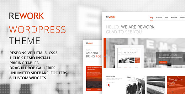 REWORK Responsive Modern WordPress Theme