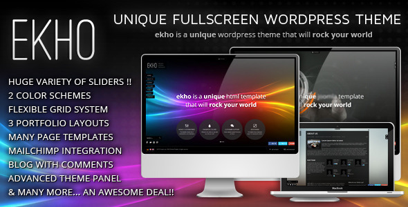 Ekho – Unique Responsive WordPress Theme