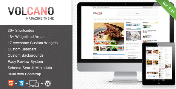Volcano – Responsive WordPress Magazine / Blog