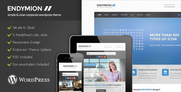 Endymion – Simple Corporate WordPress Theme