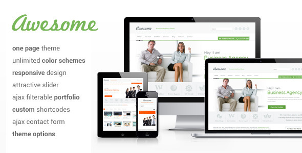 Awesome – One Page WordPress Theme