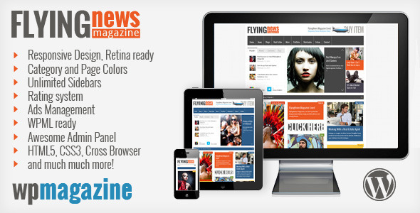 FlyingNews – Responsive WordPress Magazine