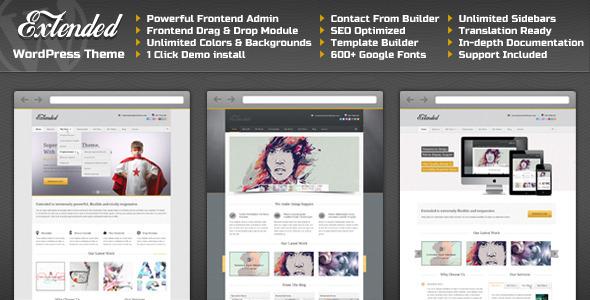 Extended – Responsive Premium WordPress Theme