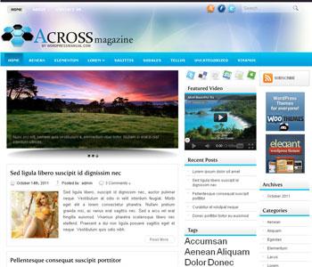 Across  WordPress Theme Free Download