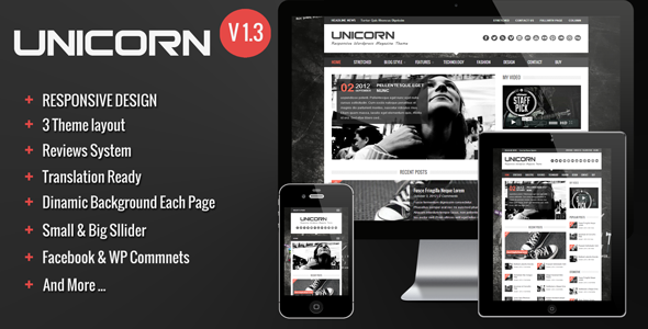 Unicorn – Clean and Responsive Magazine Theme