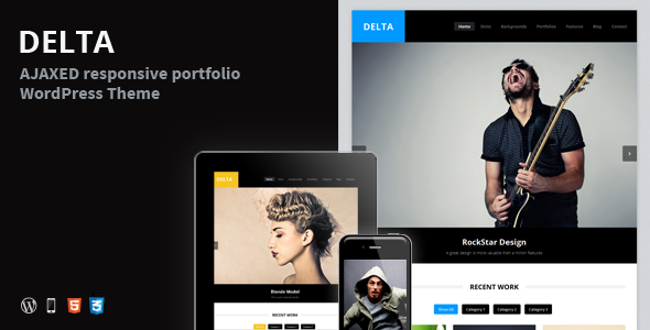 DELTA – AJAX Portfolio Responsive WordPress Theme