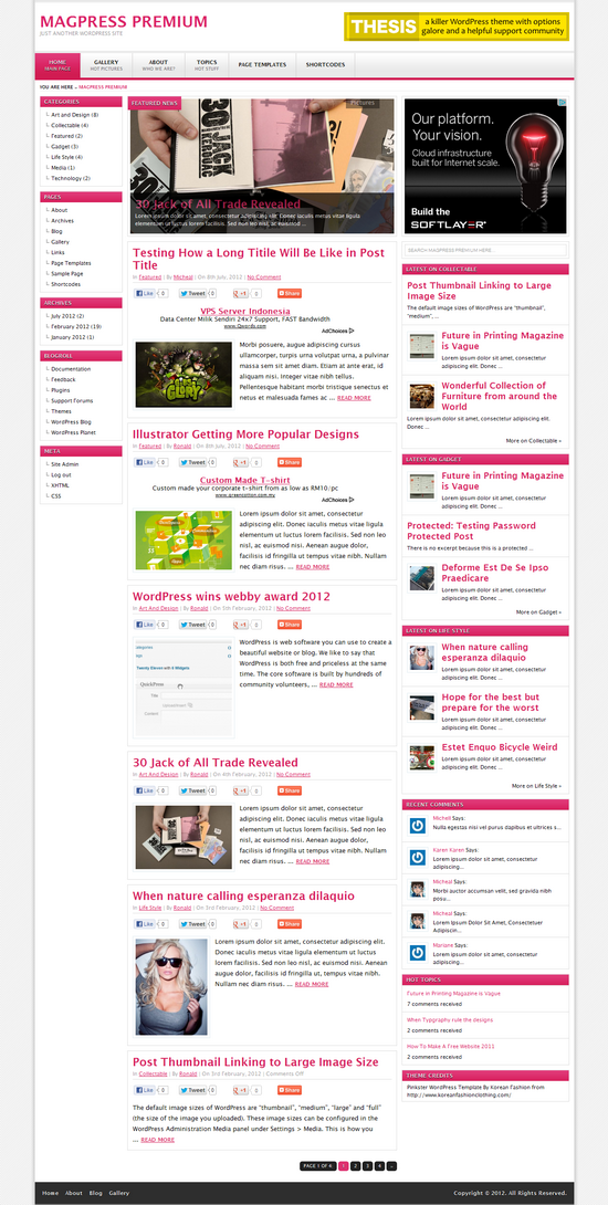 Pinkster | The Best Free and Premium Wordpress Themes For Download