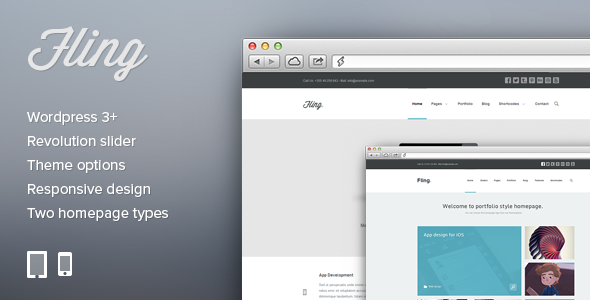 Fling – Corporate and Portfolio WordPress theme