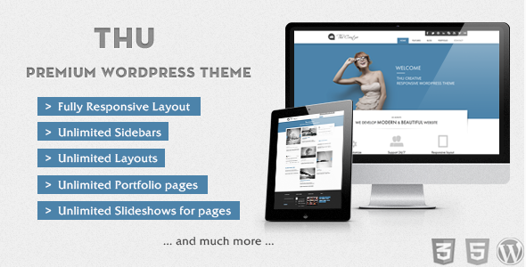 THU – Clean & Modern WordPress Theme