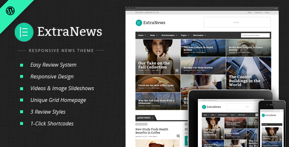 ExtraNews – Responsive News and Magazine Theme