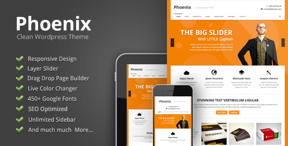 Phoenix – Clean Responsive WordPress Theme