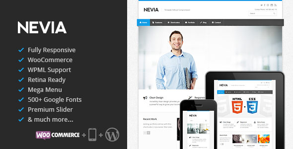Nevia – Responsive Multi-Purpose WordPress Theme