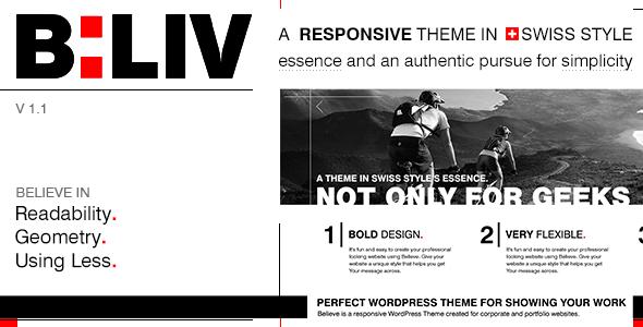 B:LIV – Responsive Minimal WordPress Theme