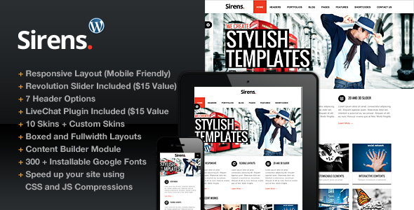 Sirens Multi-Purpose Stylish Business Theme
