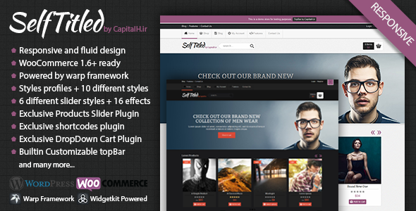 SelfTitled – Responsive eCommerce WordPress Theme