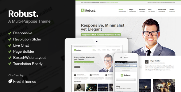 Robust – Responsive Multi-Purpose WordPress Theme