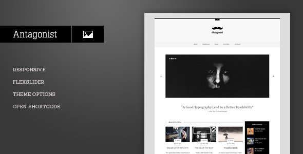 Antagonist – Responsive Portfolio WordPress Theme