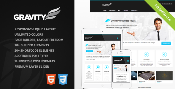 Gravity – Business Theme for Creative & Corporate