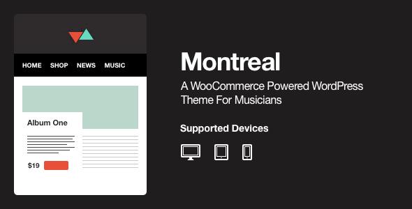 Montreal – WooCommerce Powered Music Theme