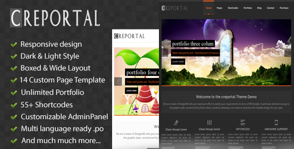 Creportal – Creative WordPress Theme
