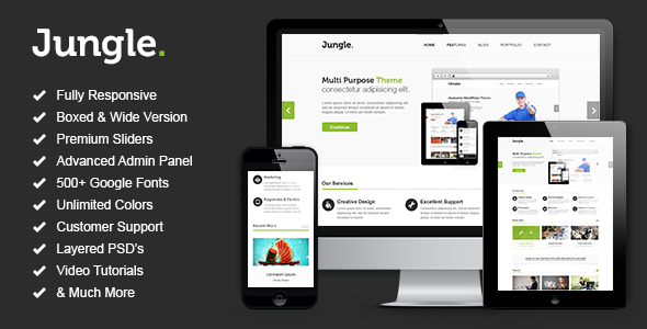 Jungle – Responsive Multi-Purpose WordPress Theme