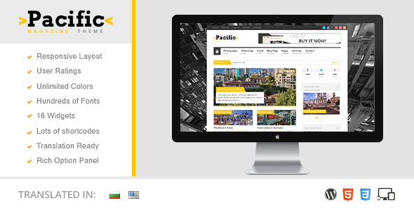 Pacific Responsive WordPress Magazine Theme