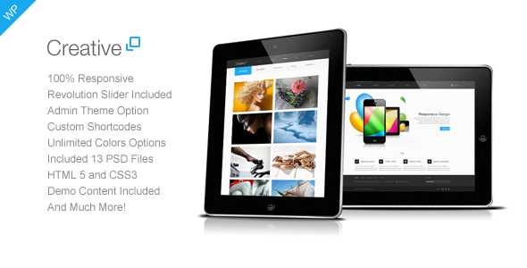 Creative – Responsive WordPress Theme