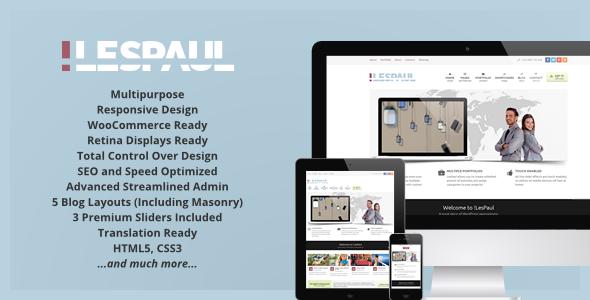 !LesPaul – Retina Responsive WordPress Theme