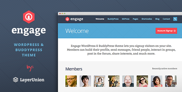 Engage – WordPress, BuddyPress, bbPress Theme