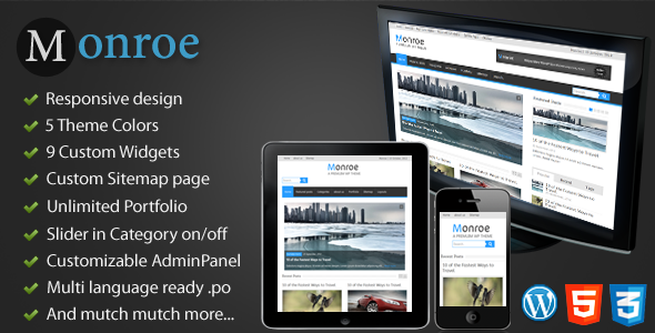 Monroe – Responsive WordPress Magazine, News