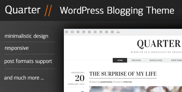Quarter – Responsive WordPress Blogging Theme