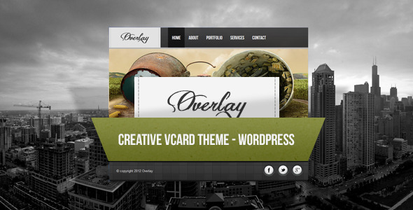Overlay – Creative WordPress Vcard