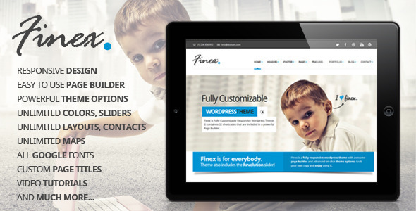 Finex – Responsive Multi-Purpose WordPress Theme